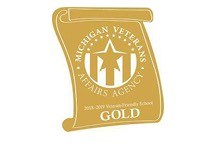 GVSU was award Gold Star Status by the Michigan Veteran's Affairs Agency.